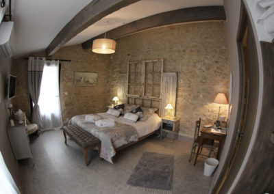 la bastide des dreamses - bed and breakfast - provence - luberon - robion - cotton flower - pano view