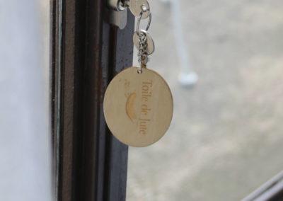 la bastide des songes - chambres d hotes - provence - luberon - robion - toile de jute - clé